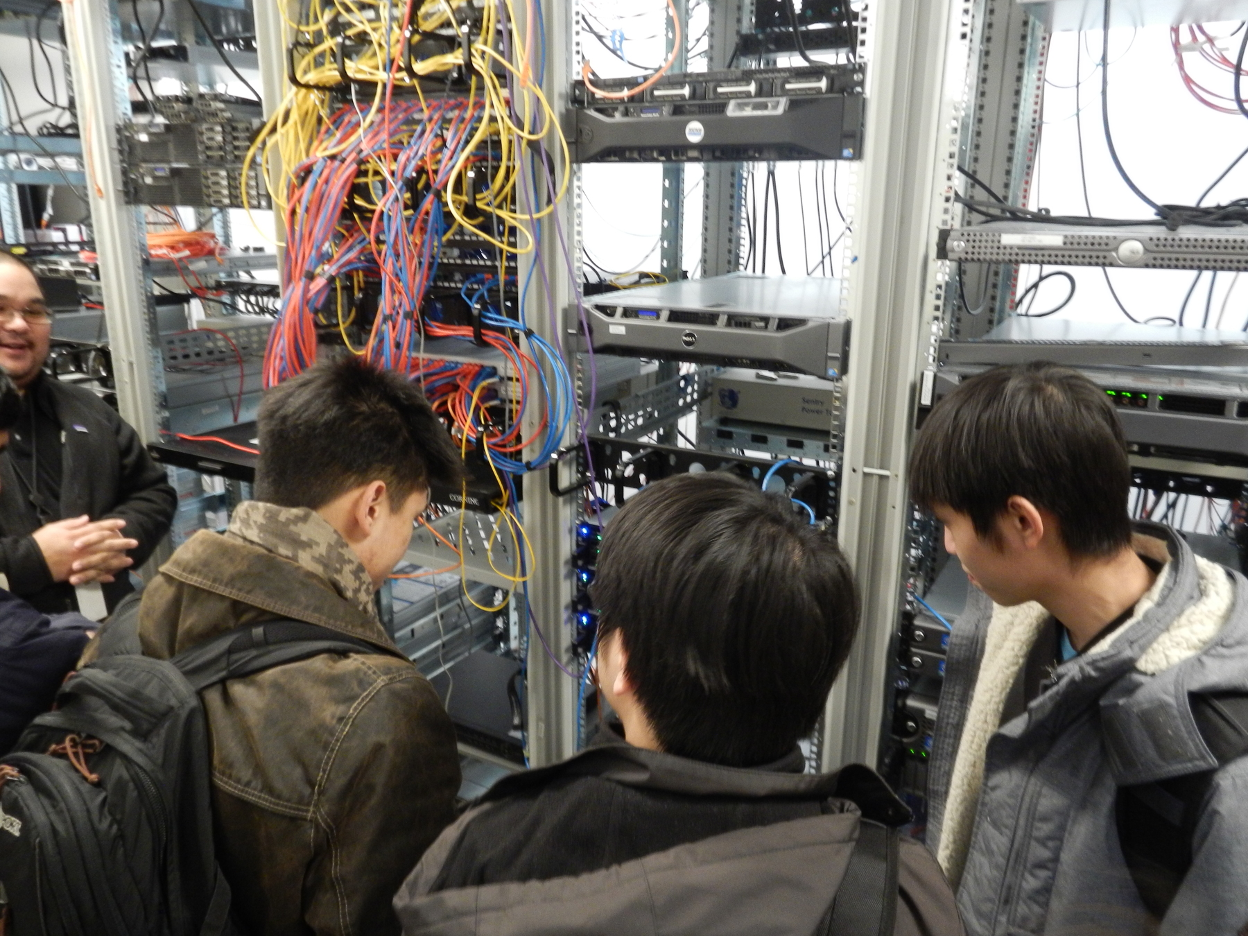 students Taking a look at the servers that power the Field Museum's operations