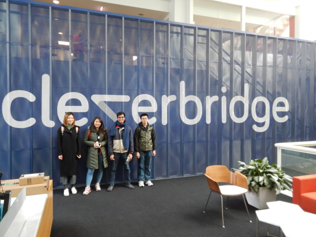 Some of the students at Cleverbridge